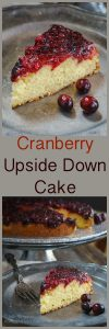 Cranberry Upside Down Cake is soft and tender. The cake tastes like sweet cream which is a great contrast to the tartness of the cranberries. | HostessAtHeart.com