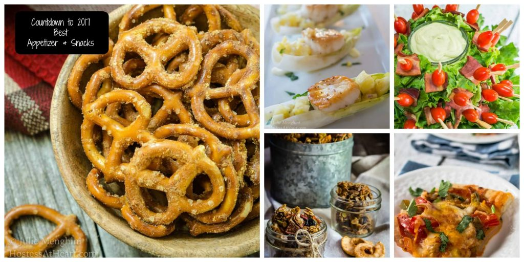 Countdown to 2017 is on! Today's recipes are for the Best Appetizers & Snacks featured on Hostess At Heart during 2016   HostessAtHeart.com
