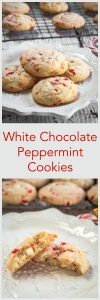 White Chocolate and Peppermint cookies are soft, tender and delicious. They are quick and easy to make and perfect for enjoying with a friend over a hot chocolate | HostessAtHeart.com