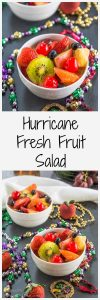A Hurricane Fresh Fruit Salad makes the perfect accompaniment to your Mardi Gras party or any meal worth celebrating! | HostessAtHeart.com