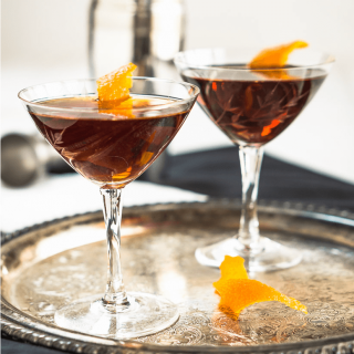 Bootleg Black Gold Whiskey cocktail is smooth, slightly sweet with a touch of orange. It's a great after dinner or an anytime sipper. | HostessAtHeart.com