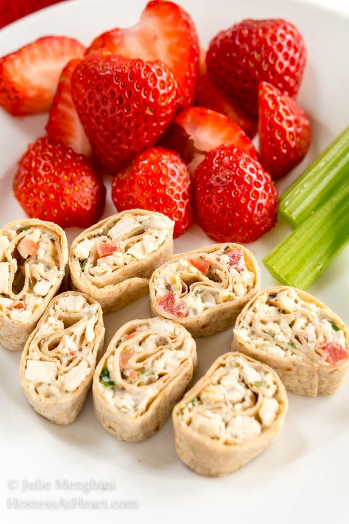 A busy schedule doesn't mean you can't make meal planning nutritious and delicious! Healthy Whole Grain Chicken Wraps and Pinwheels are fun and easy too! | HostessAtHeart.com