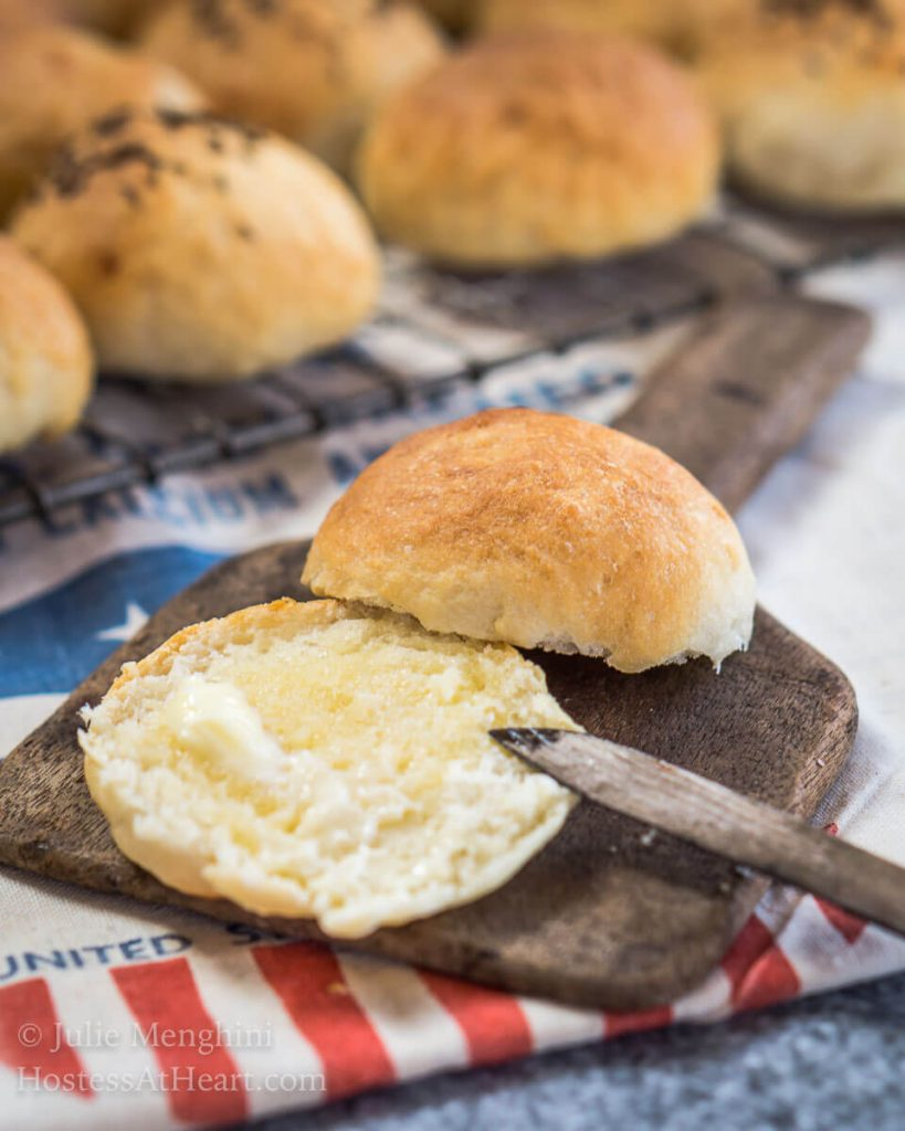 This Super Easy Potato Roll Recipe make a soft and slightly sweet roll that's perfect for dinner or even slider buns! Even the non-baker is going to love making them. | HostessAtHeart.com