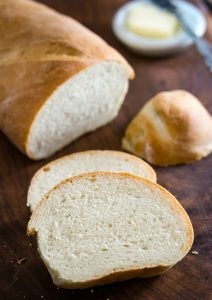 Homemade bread doesn't have to be hard or take all day. This Classic Italian Bread recipe uses only 6 ingredients and is ready in under two hours | HostessAtHeart.com