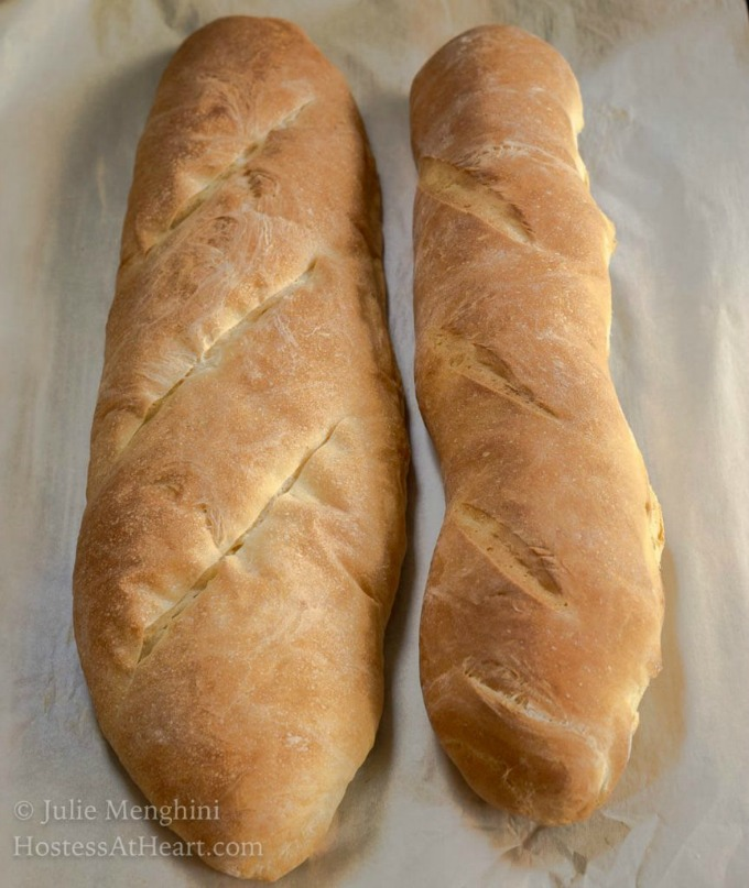 Homemade bread doesn't have to be hard or take all day. This Classic Italian Bread recipe uses only 6 ingredients and is ready in under two hours. | HostessAtHeart.com