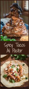 This Spicy Tacos Al Pastor recipe is perfect for serving a crowd. You can bake it in an oven or on the grill. It's impressive to look at and even more delicious to eat. | HostessAtHeart.com