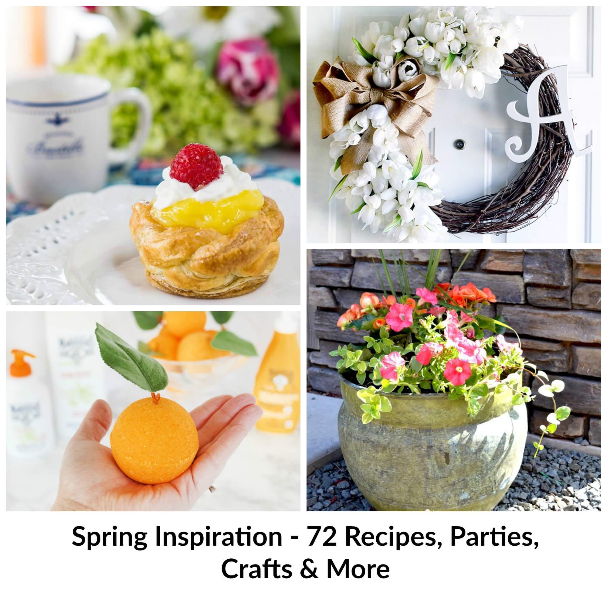 Spring Inspiration for everyone!  Find something new with this collection of amazing Spring themed posts of recipes, crafts & DIY! HostessAtHeart.com
