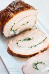 Delicious Grill Glazed Spinach and Goat Cheese Pork Roulade Recipe is a perfect show-stopper to serve to family and friends! | HostessAtHeart.com