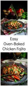 Easy Oven-Baked Chicken Fajita recipe is an explosion of deliciousness.  It's perfect with a side of rice, in a wrap, and the chicken is the perfect topper for your salad. | HostessAtHeart.com