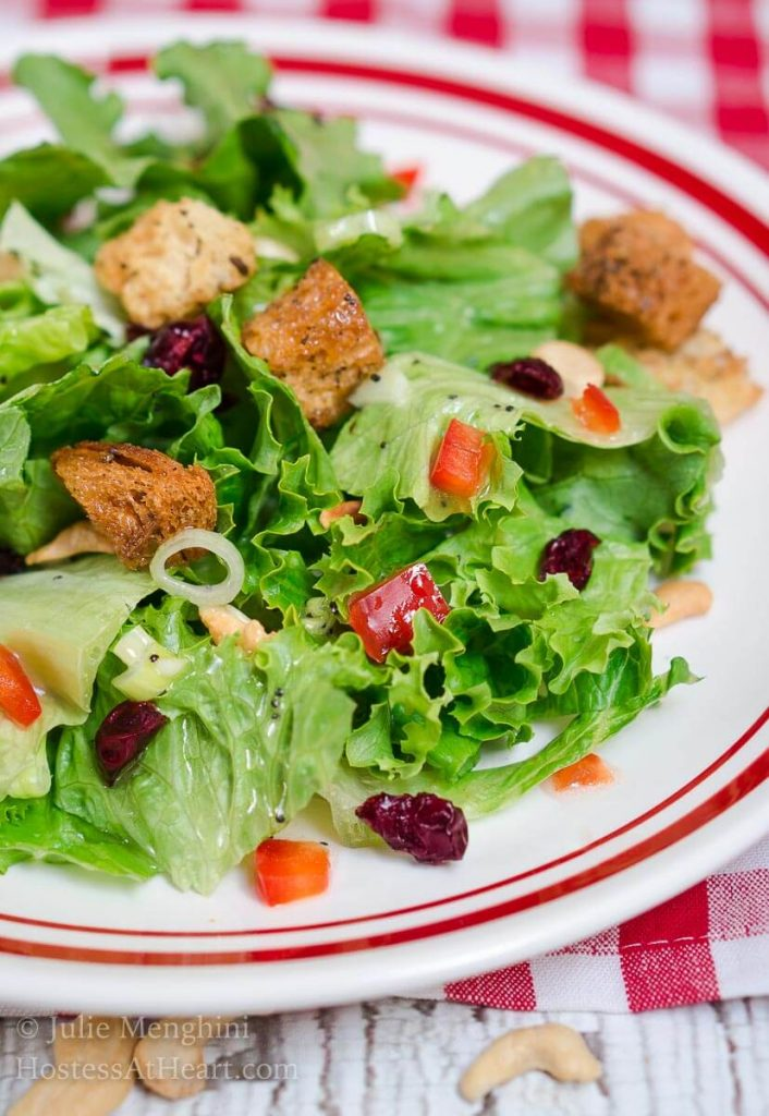 Favorite Green Salad with Sweet Poppyseed Dressing