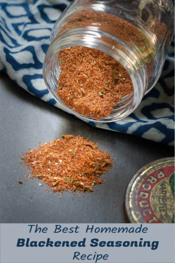 This homemade blackened seasoning blend recipe is a combination of delicious herbs and spices. It's a delicious blend that ends with a spicy kick!
