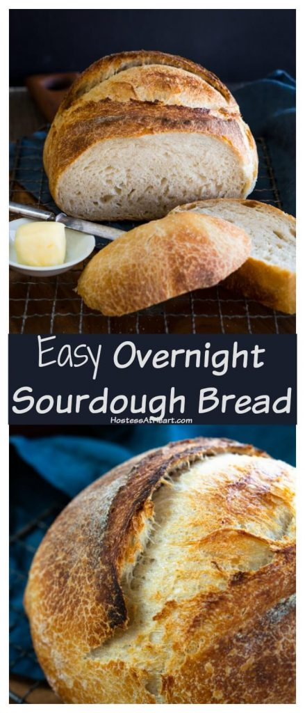 Beautifully sliced sourdough bread with a tender crumb and a browned crusty exterior