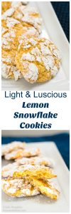 4 IngredientLight and Luscious Lemon Snowflake Cookies are so easy to make and literally melt in your mouth. They are the perfect delicious no-fuss cookie recipe. HostessAtHeart.com