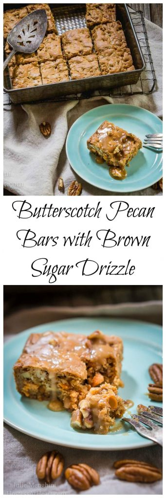 I'm not going to waste a special treat on something that isn't delicious. A bite of a Butterscotch Pecan Bars with a Brown Sugar Drizzle is definitely a delicious special treat! | HostessAtHeart.com