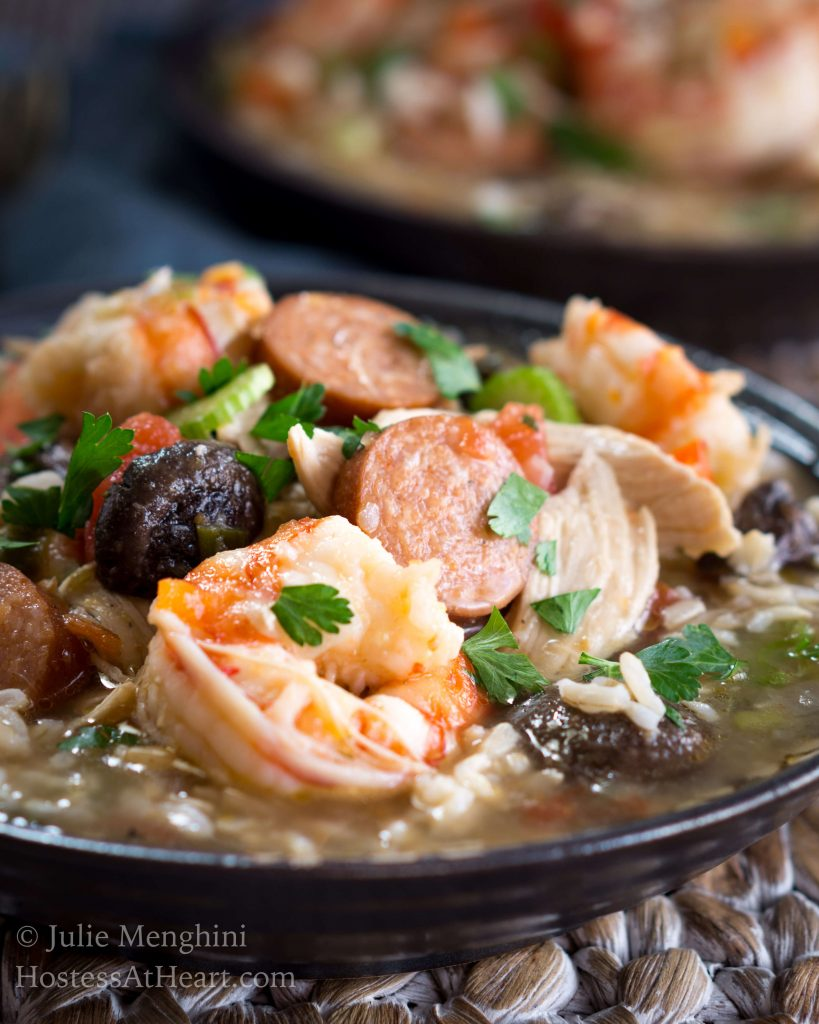 Chicen, Shrimp, and Sausage Gumbo