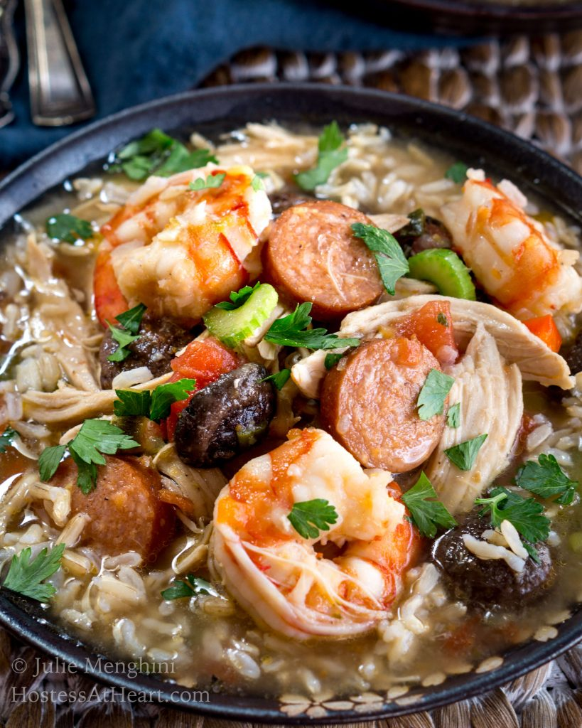 Chicken, Shrimp and Sausage Gumbo