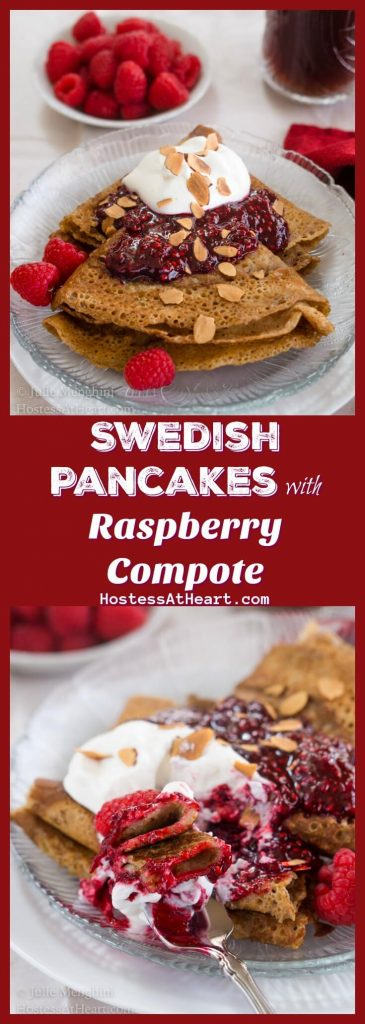 Swedish Pancake with Raspberry Compote