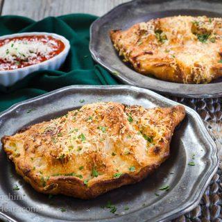 Ham and 3 Cheese Calzones