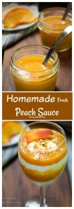 Peach Sauce collage for pinterest