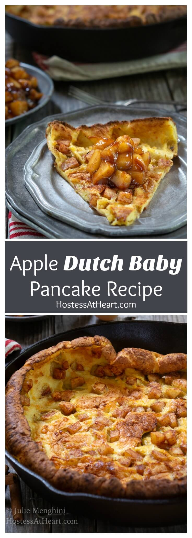 Pinterest collage of Apple Dutch Baby Pancake