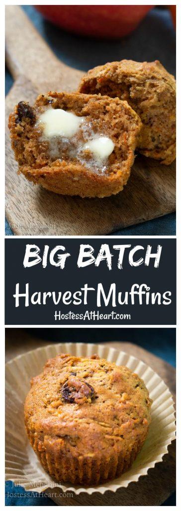Pinterest collage of Harvest Muffins