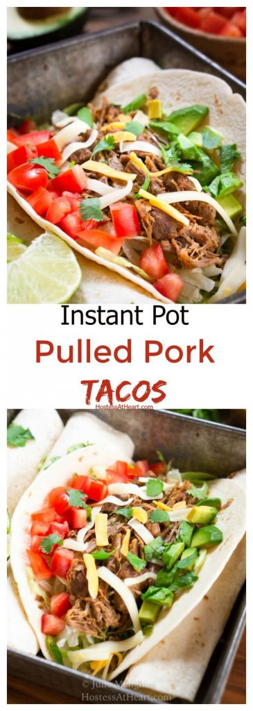 Pinterest collage of a pulled pork taco