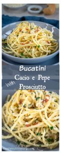 One bite of this Bucatini Casio de Pepe pasta meal will have you swooning in smooth cheeses and crispy prosciutto