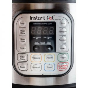 The Control Panel of an 8 quart Instant Pot