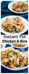 Creamy Instant Pot Chicken and Rice is full of delicious wild rice, juicy chicken and tons of carrots, celery and onion. it's an easy 30-minute comfort meal dish.