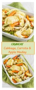 Crunchy Cabbage, Carrot, and Apple medley make a beautifully combined dish of color, flavor and textures.