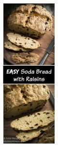 Easy Soda Bread with Raisins is a tender and soft bread that's perfect with a bowl of stew.