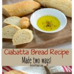 Ciabatta breadsticks and a soft and tender sandwich roll.