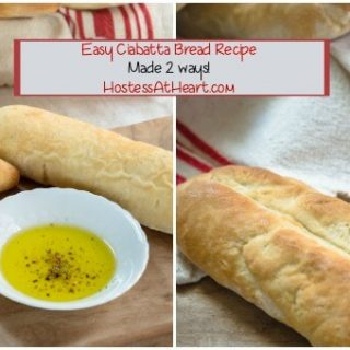 Ciabatta dough can be shaped into rolls or breadsticks.