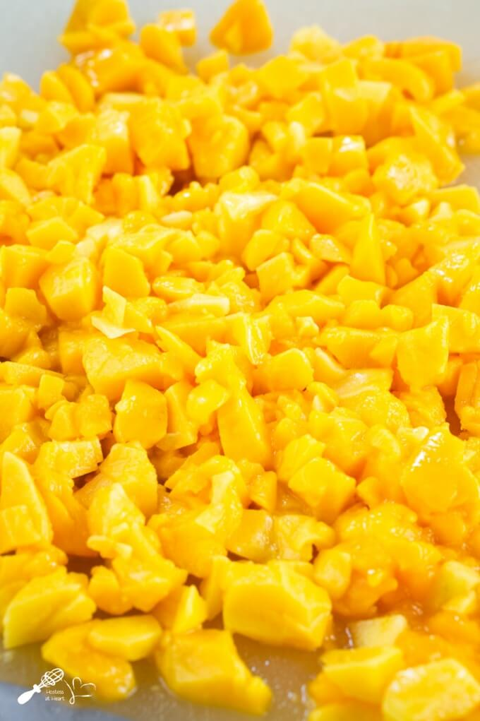 Chopped pieces of mango