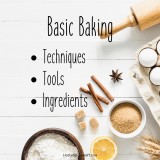 Stock photo of baking ingredients and tools.