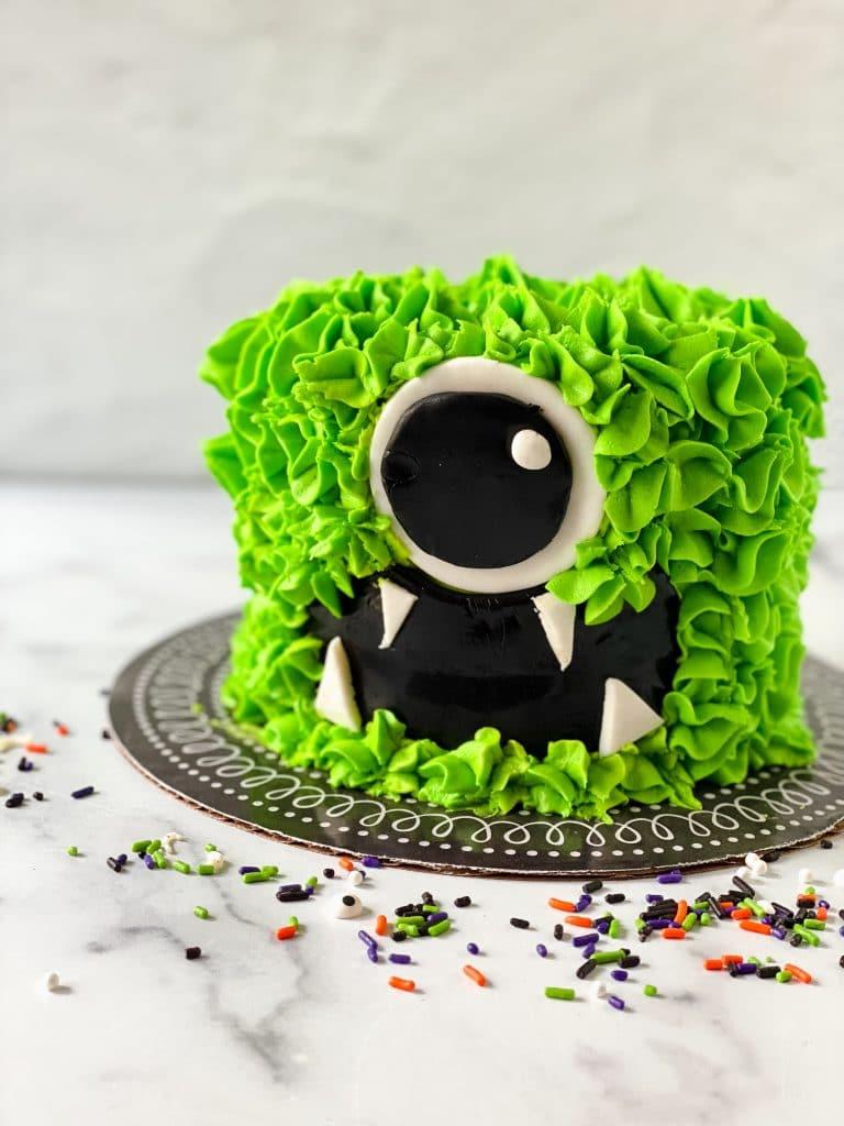 Monster Cake on platter.